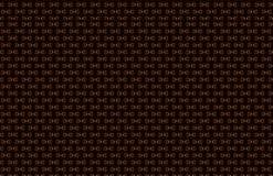 Fondo senza cuciture astratto della lettera D, struttura piastrellata rispecchiata sulla superficie del nero scuro, yello verde v illustrazione di stock