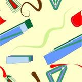 Fondo senza cuciture astratto, forme geometriche variopinte su beige 18-43 Royalty Illustrazione gratis