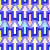 Fondo senza cuciture astratto geometrico del modello, fondo geometrico, modello delle frecce, modello del gallone immagini stock