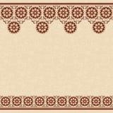 Fondo senza cuciture beige con marrone scuro b floreale Illustrazione Vettoriale