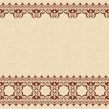 Fondo senza cuciture beige leggero con l'annata marrone Illustrazione Vettoriale