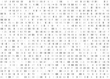 Fondo senza cuciture bianco di codice esadecimale di vettore Grandi dati ed incisione di programmazione, crittografia di decritta illustrazione vettoriale