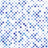 Fondo senza cuciture blu del motivo a stelle - progettazione di vettore Fotografia Stock Libera da Diritti