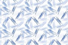 Fondo senza cuciture blu di struttura di Pen Doodles royalty illustrazione gratis