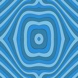 Fondo senza cuciture blu a strisce astratto con le curve nel mezzo Fotografia Stock Libera da Diritti