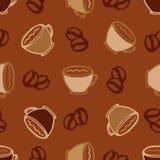 Fondo senza cuciture caldo del modello delle tazze di caffè per il caffè o la progettazione del menu del ristorante Immagini Stock Libere da Diritti