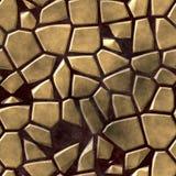 Fondo senza cuciture colorato con malta liquida porpora scura - beige di mosaico di struttura pietrosa irregolare del modello del Fotografie Stock