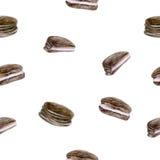 Fondo senza cuciture con i biscotti della spugna Immagini Stock