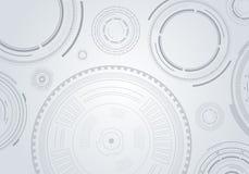 Fondo senza cuciture con i cerchi astratti illustrazione vettoriale