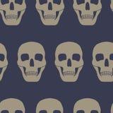 Fondo senza cuciture con i crani Fotografia Stock Libera da Diritti