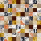 Fondo senza cuciture con i modelli della pietra e del marmo Fotografie Stock