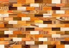 Fondo senza cuciture con i modelli di legno Fotografie Stock Libere da Diritti