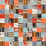 Fondo senza cuciture con i modelli di legno Fotografie Stock