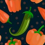 Fondo senza cuciture con i peperoni Fotografia Stock