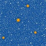 Fondo senza cuciture con i punti e le stelle. Immagini Stock Libere da Diritti