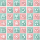 Fondo senza cuciture con i simboli di amore Fotografia Stock Libera da Diritti