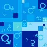 Fondo senza cuciture con i simboli maschii illustrazione vettoriale