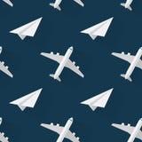 Fondo senza cuciture con il piano moderno degli aeroplani Immagine Stock Libera da Diritti