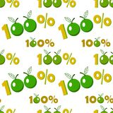 Fondo senza cuciture con il simbolo della mela di cento per cento royalty illustrazione gratis