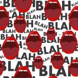 Fondo senza cuciture con la bocca ed il gossip blabla - blabla Immagine Stock