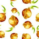 Fondo senza cuciture con la cipolla Verdure dell'acquerello Fotografia Stock