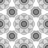 Fondo senza cuciture con la decorazione floreale di buta del hennè di mehndi su fondo bianco nello stile indiano immagine stock libera da diritti