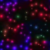 Fondo senza cuciture con le piccole luci nei colori felici Immagine Stock Libera da Diritti