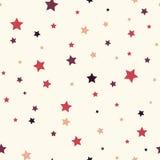 Fondo senza cuciture con le stelle variopinte Fotografia Stock Libera da Diritti