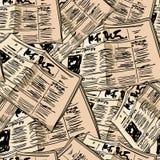 Fondo senza cuciture d'annata del giornale Immagini Stock