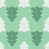 Fondo senza cuciture degli alberi di Natale Buon anno 2016 Immagine Stock Libera da Diritti