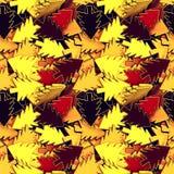 Fondo senza cuciture dei colori gialli ed arancio metallici degli alberi di Natale, del nero, di marrone rossiccio, Fotografia Stock