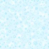 Fondo senza cuciture dei fiocchi di neve del modello Immagini Stock