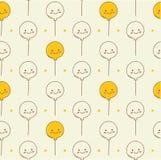 Fondo senza cuciture dei palloni nel vettore di stile di kawaii illustrazione vettoriale