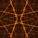Fondo senza cuciture dei raggi laser dell'oro Fotografia Stock Libera da Diritti