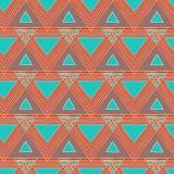 Fondo senza cuciture dei triangoli etnici Immagini Stock Libere da Diritti
