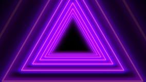 Fondo senza cuciture del bello tunnel astratto al neon porpora del triangolo illustrazione vettoriale