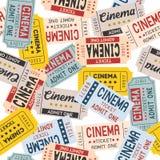 Fondo senza cuciture del biglietto del cinema Fotografia Stock Libera da Diritti
