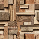 Fondo senza cuciture del blocco di legno Immagini Stock Libere da Diritti