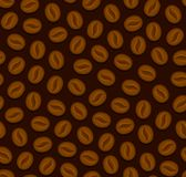 Fondo senza cuciture del caffè con i fagioli Vettore Immagini Stock