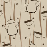 Fondo senza cuciture del caffè Immagine Stock Libera da Diritti