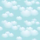 Fondo senza cuciture del cielo blu illustrazione di stock