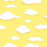 Fondo senza cuciture del cielo Fondo senza cuciture della nuvola pomeriggio Nubi arancioni illustrazione di stock