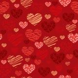 Fondo senza cuciture del cuore - illustrazione Fotografie Stock Libere da Diritti