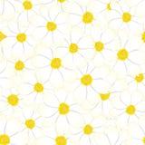 Fondo senza cuciture del fiore bianco dell'universo Illustrazione di vettore royalty illustrazione gratis