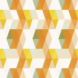 Fondo senza cuciture del modello arancio del triangolo Illustrazione Vettoriale