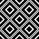 Fondo senza cuciture del modello in bianco e nero Progettazione ornamentale astratta d'annata e retro Piano semplice fotografie stock libere da diritti