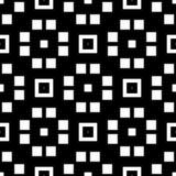 Fondo senza cuciture del modello in bianco e nero Progettazione ornamentale astratta d'annata e retro Piano semplice Immagini Stock Libere da Diritti