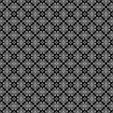 Fondo senza cuciture del modello in bianco e nero Progettazione ornamentale astratta d'annata e retro Piano semplice Immagine Stock Libera da Diritti
