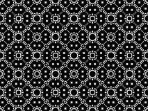 Fondo senza cuciture del modello in bianco e nero Progettazione ornamentale astratta d'annata e retro Piano semplice fotografia stock