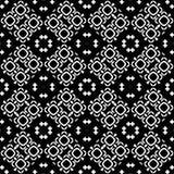 Fondo senza cuciture del modello in bianco e nero Progettazione ornamentale astratta d'annata e retro Piano semplice immagini stock